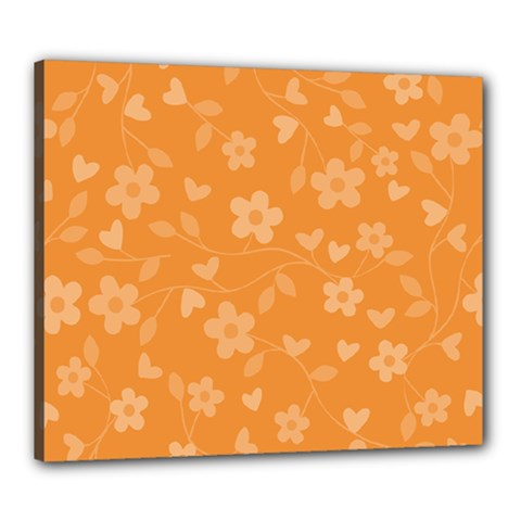 Floral Pattern Canvas 24  X 20  by Valentinaart