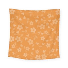 Floral Pattern Square Tapestry (small) by Valentinaart