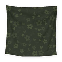 Floral Pattern Square Tapestry (large) by Valentinaart