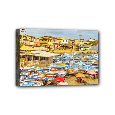 Engabao Beach At Guayas District Ecuador Mini Canvas 6  X 4  by dflcprints