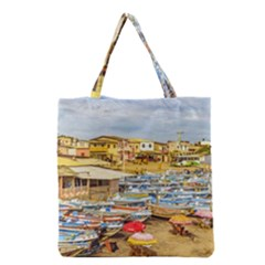 Engabao Beach At Guayas District Ecuador Grocery Tote Bag by dflcprints
