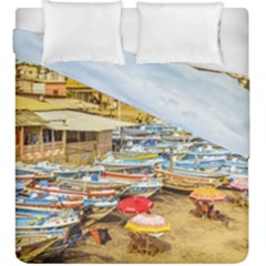 Engabao Beach At Guayas District Ecuador Duvet Cover Double Side (king Size) by dflcprints