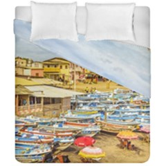 Engabao Beach At Guayas District Ecuador Duvet Cover Double Side (california King Size) by dflcprints