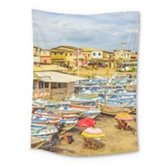 Engabao Beach At Guayas District Ecuador Medium Tapestry by dflcprints
