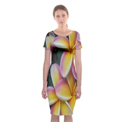 Premier Mix Flower Classic Short Sleeve Midi Dress by alohaA