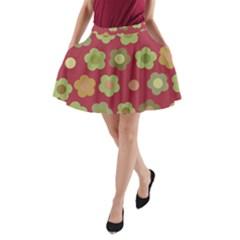 Floral Pattern A Line Pocket Skirt by Valentinaart