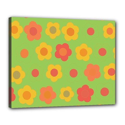 Floral Pattern Canvas 20  X 16  by Valentinaart