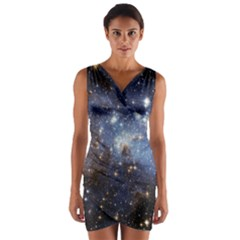 Large Magellanic Cloud Wrap Front Bodycon Dress by SpaceShop