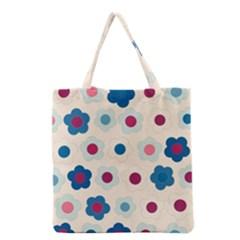 Floral Pattern Grocery Tote Bag by Valentinaart