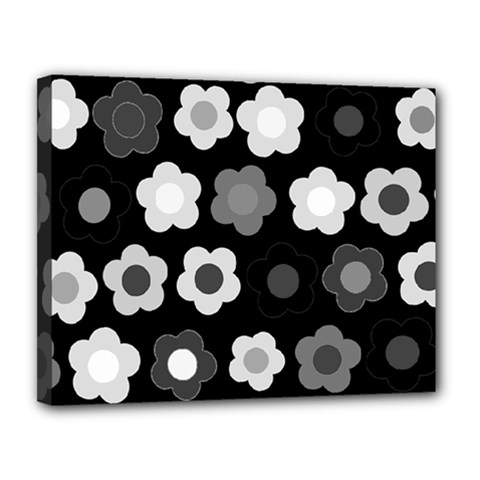 Floral Pattern Canvas 14  X 11  by Valentinaart