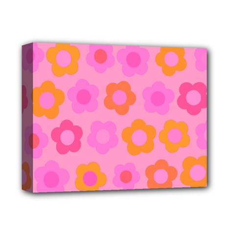 Pink Floral Pattern Deluxe Canvas 14  X 11  by Valentinaart