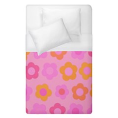 Pink Floral Pattern Duvet Cover (single Size) by Valentinaart