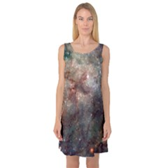 Tarantula Nebula Sleeveless Satin Nightdress by SpaceShop