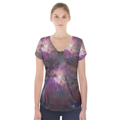 Orion Nebula Short Sleeve Front Detail Top
