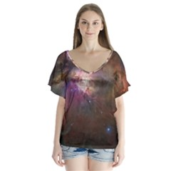 Orion Nebula Flutter Sleeve Top by SpaceShop