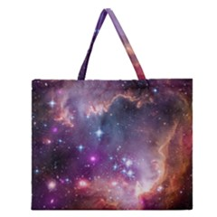 Small Magellanic Cloud Zipper Large Tote Bag by SpaceShop