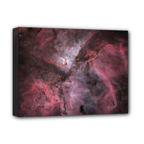 Carina Peach 4553 Deluxe Canvas 16  X 12   by SpaceShop
