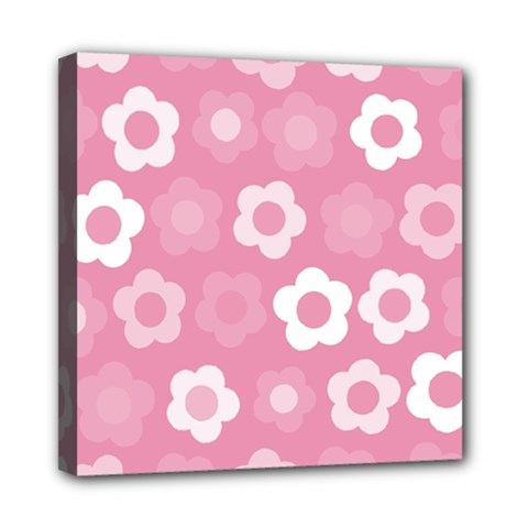 Floral Pattern Mini Canvas 8  X 8  by Valentinaart
