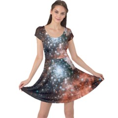 Star Cluster Cap Sleeve Dresses by SpaceShop