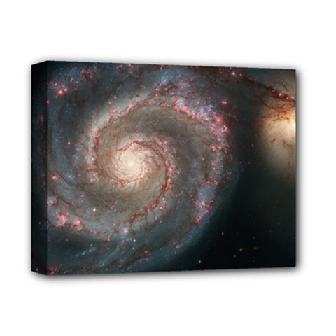 Whirlpool Galaxy And Companion Deluxe Canvas 14  X 11  by SpaceShop