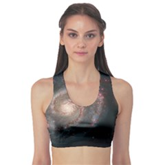 Whirlpool Galaxy And Companion Sports Bra by SpaceShop