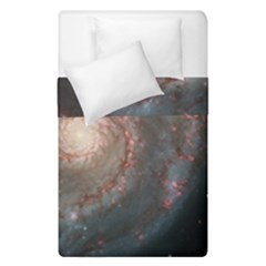 Whirlpool Galaxy And Companion Duvet Cover Double Side (single Size) by SpaceShop