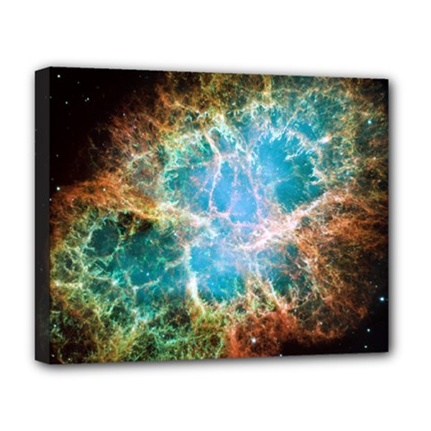 Crab Nebula Deluxe Canvas 20  X 16   by SpaceShop