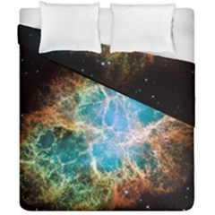 Crab Nebula Duvet Cover Double Side (california King Size) by SpaceShop