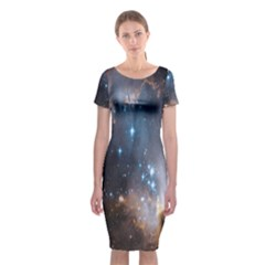New Stars Classic Short Sleeve Midi Dress by SpaceShop