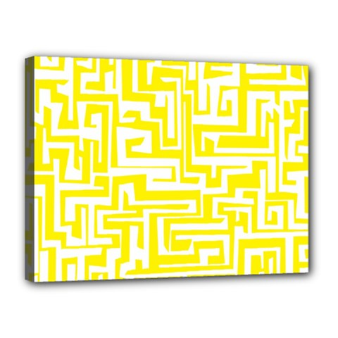 Pattern Canvas 16  X 12  by Valentinaart