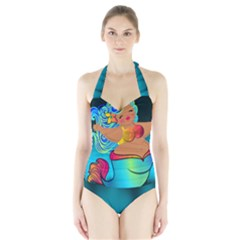 Mermaids Heaven Halter Swimsuit by tonitails
