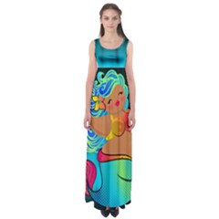 Mermaids Heaven Empire Waist Maxi Dress by tonitails