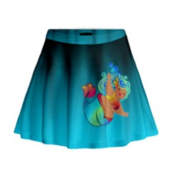 Mermaids Heaven Mini Flare Skirt by tonitails
