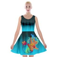 Mermaids Heaven Velvet Skater Dress by tonitails