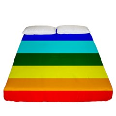 Rainbow Fitted Sheet (california King Size) by Valentinaart