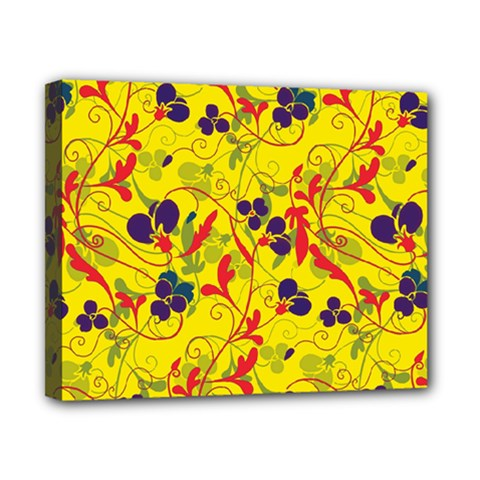 Floral Pattern Canvas 10  X 8  by Valentinaart