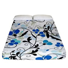 Floral Pattern Fitted Sheet (california King Size) by Valentinaart