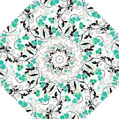 Floral Pattern Golf Umbrellas by Valentinaart