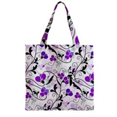 Floral Pattern Zipper Grocery Tote Bag by Valentinaart