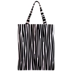 Zebra Pattern Zipper Classic Tote Bag by Valentinaart