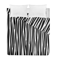 Zebra Pattern Duvet Cover Double Side (full/ Double Size) by Valentinaart