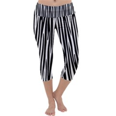 Zebra Pattern Capri Yoga Leggings by Valentinaart