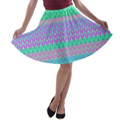 Pattern A-line Skater Skirt by Valentinaart