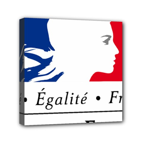 Symbol Of The French Government Mini Canvas 6  X 6  by abbeyz71