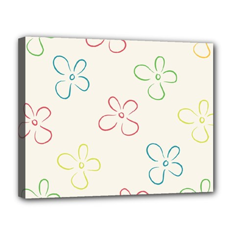 Flower Background Nature Floral Canvas 14  X 11  by Simbadda