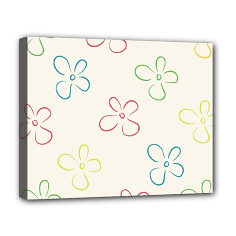 Flower Background Nature Floral Deluxe Canvas 20  X 16   by Simbadda