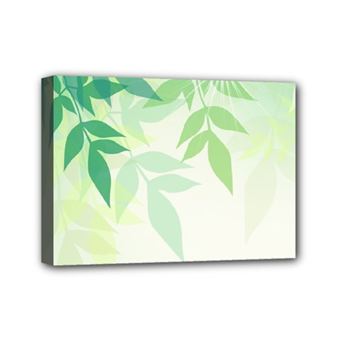 Spring Leaves Nature Light Mini Canvas 7  X 5  by Simbadda