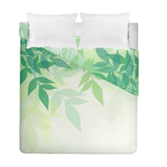 Spring Leaves Nature Light Duvet Cover Double Side (full/ Double Size) by Simbadda