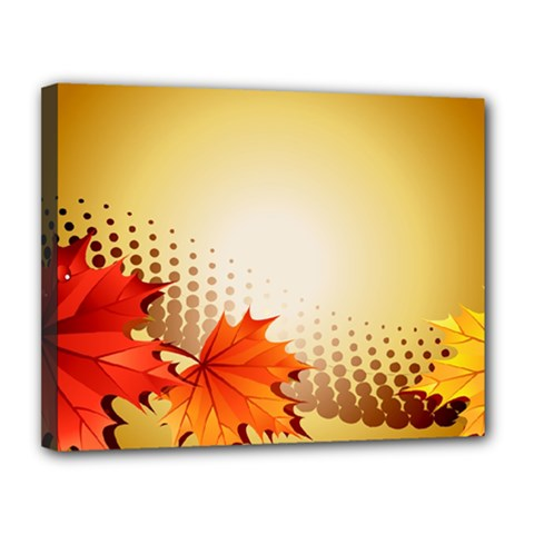 Background Leaves Dry Leaf Nature Canvas 14  X 11  by Simbadda