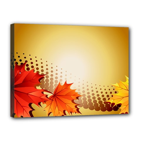 Background Leaves Dry Leaf Nature Canvas 16  X 12  by Simbadda